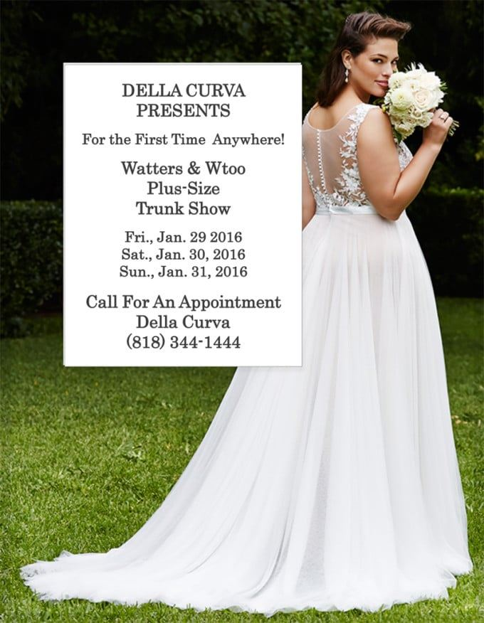 Della Curva Has Been Chosen to Host the First Ever Plus-Size Trunk Show by Watters Brides & Wtoo!. Desktop Image